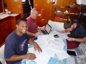 RYA Yachtmaster Ocean Theory Course students on Grenada