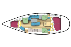 The layout for sailing yacht Chao Lay.