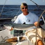 RYA Instructor Alex Johnstone fishing