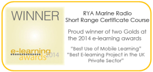 Gold award for the e-learning VHF short range radio course.