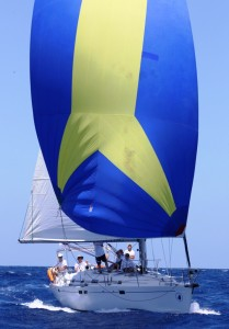 Antigua Sailing Week - Chao Lay flying the spinnaker in Antigua