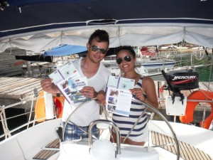 SGU Student learn to sail courses receiving RYA Competent Crew certificates in Grenada.