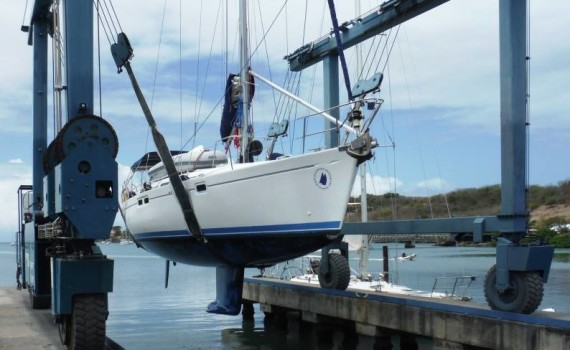 Chao Lay being hauled out in Grenada