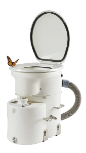 Airhead composting toilet is an alternative to holding tanks.
