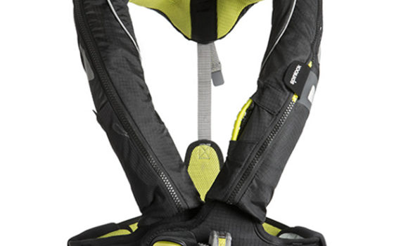 West Marine Spinlock Deckvest 5D safety harness and PFD.